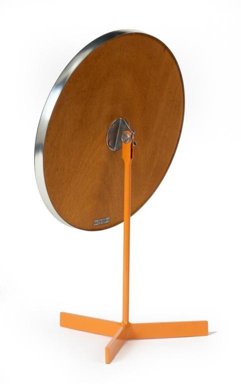 Durlston Designs Ltd Orange Lacquered Pedestal Vanity Mirror   Image 2 Of 3