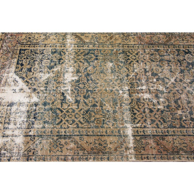 "Textile Apadana-Antique Persian Distressed Rug, 3'0"" X 11'7"" For Sale - Image 7 of 10"