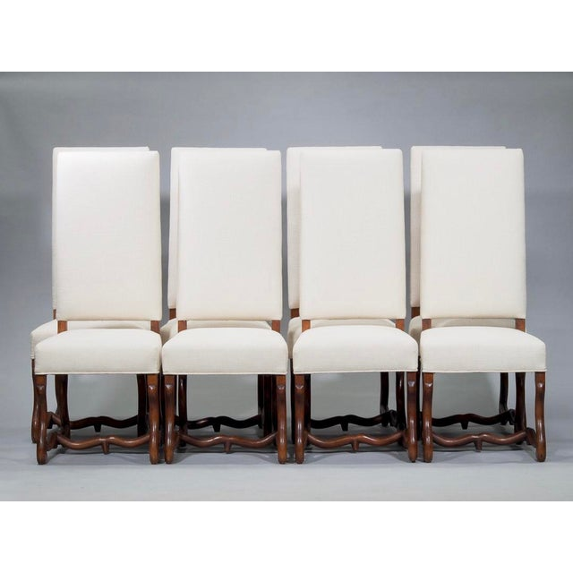 Set of 8 Newly Upholstered Os de Mouton Chairs For Sale - Image 10 of 10