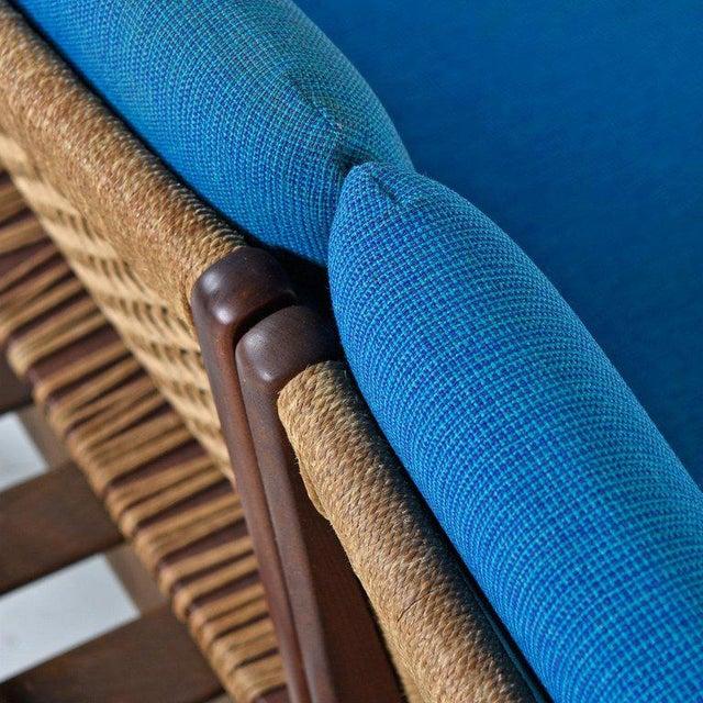 Fabric Hans Olsen Tv 161 for Bramin Mobler Modular Rope Seating & End Table Sofa Set For Sale - Image 7 of 12