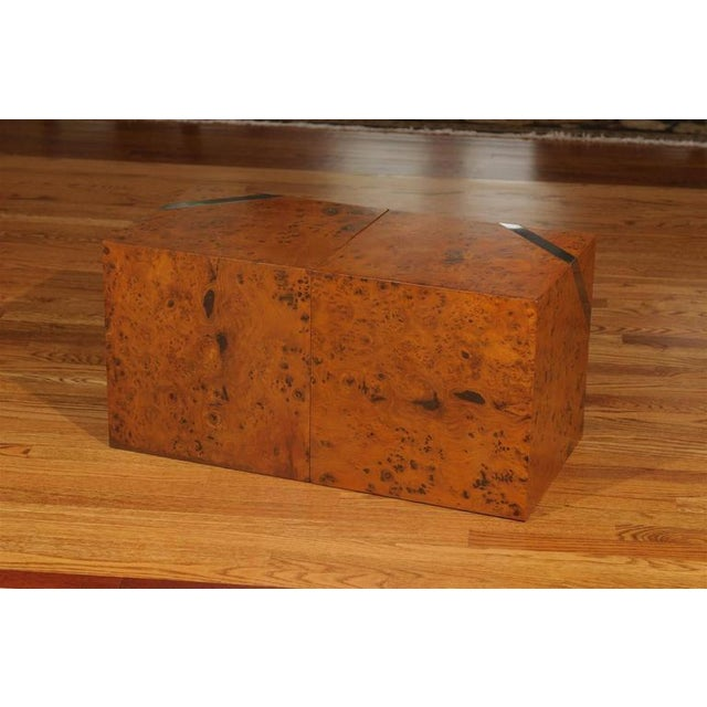 1970s Restored Pair of Olivewood and Nickel Cubes For Sale - Image 5 of 11