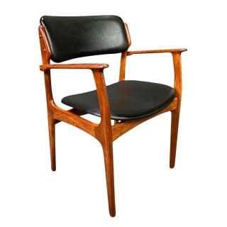 Vintage Erik Buck Danish Mid Century Modern Teak Armchair For Sale