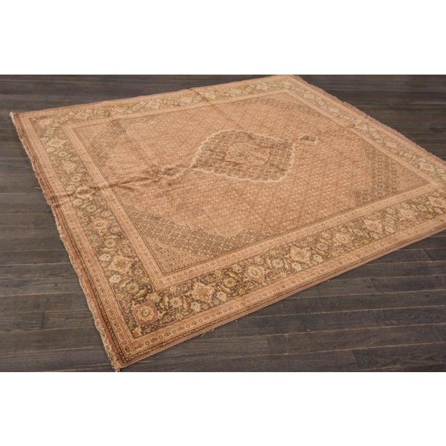 "Textile Apadana Vintage Persian Tabriz Rug - 6'8"" x 7'9"" For Sale - Image 7 of 7"
