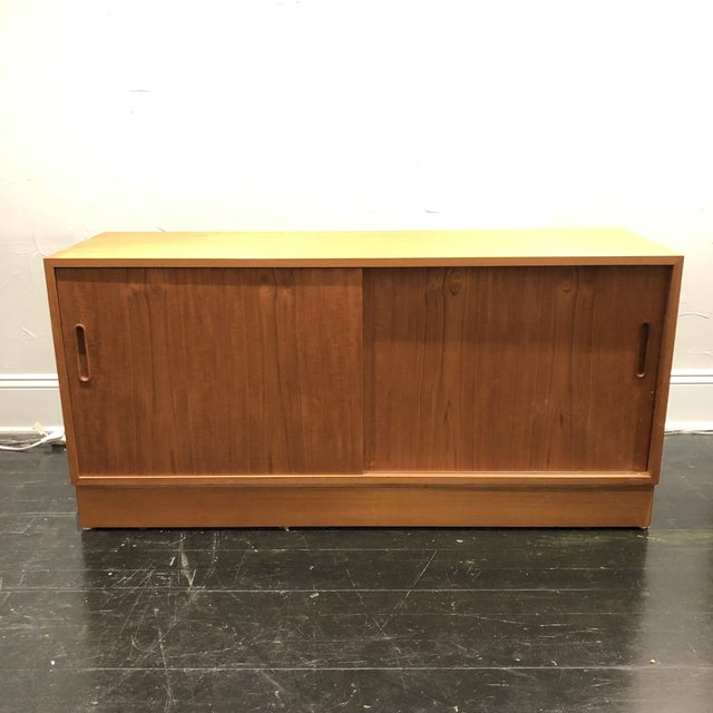 Hundrvad Danish Teak Wall Unit With Drop Down Desk - 2 Pieces For Sale - Image 12 of 13