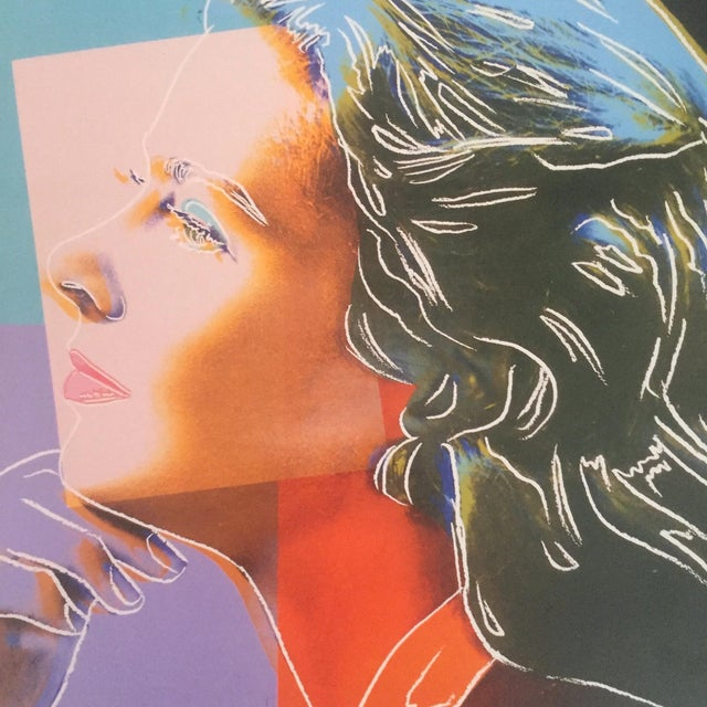 "Paper Andy Warhol Estate Vintage 1989 Pop Art Lithograph Print "" Ingrid Bergman Herself "" 1983 For Sale - Image 7 of 10"