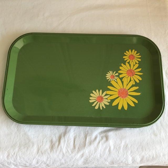 Mid-Century Enamel Floral Trays - Set of 10 - Image 4 of 8