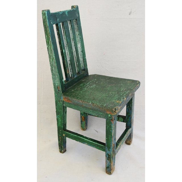 Early 1900s Primitive Country Child's Chair - Image 4 of 9