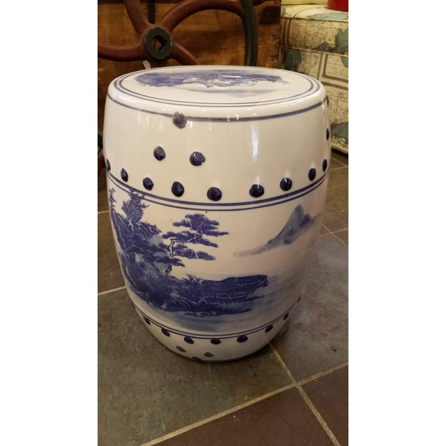 Late 20th Century Vintage Chinese Porcelain Garden Stool For Sale In Milwaukee - Image 6 of 6