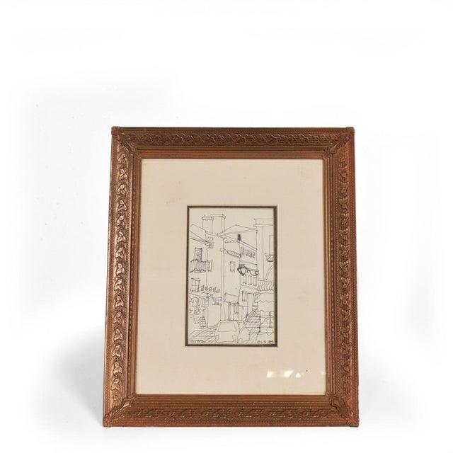Art Deco Period Brass Picture Frame , Grapevine Ornamentation For Sale - Image 10 of 10
