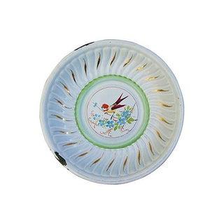 1930s French Enameled Porcelain Fruit Bowl
