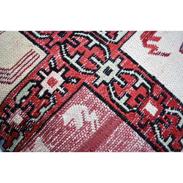 Hand Woven Silk Kilim Rug Pillow Cover - Image 4 of 5