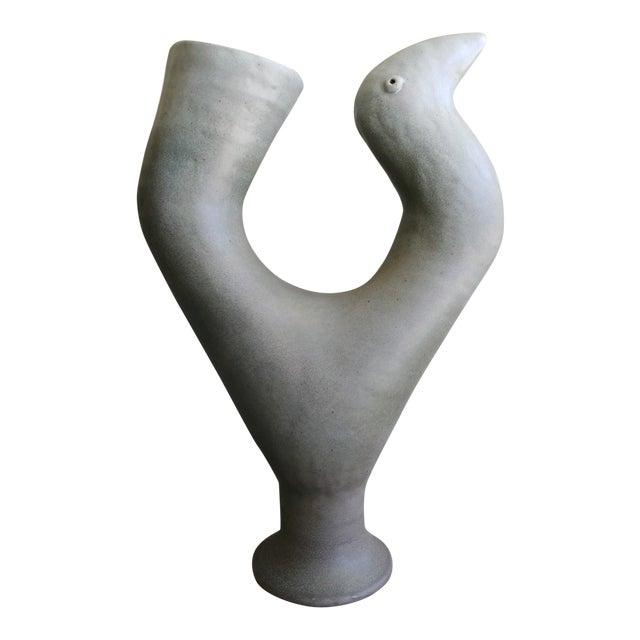 Daric Harvie Ceramic Bird Vessel Sculpture For Sale