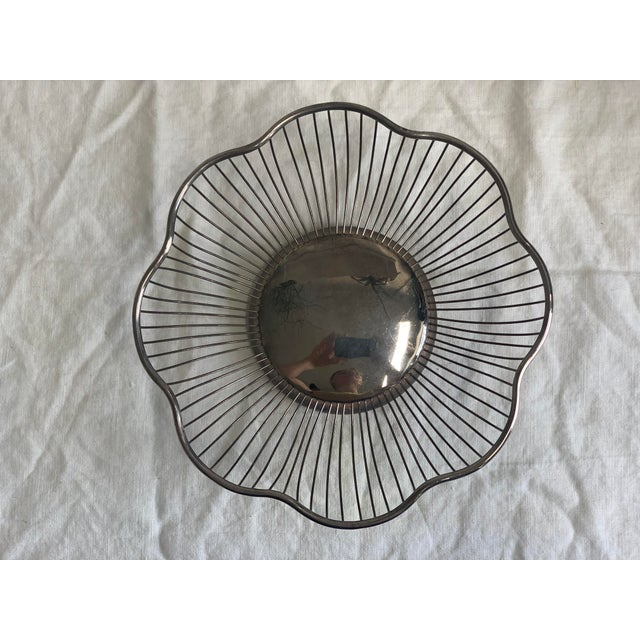 1960s 1960s Silver Fruit Bowl For Sale - Image 5 of 5
