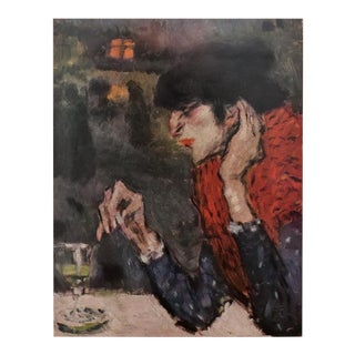 """1950s Picasso First Edition """"The Absinthe Drinker"""" Period Lithograph For Sale"""