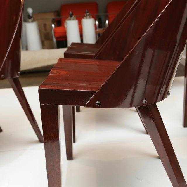 Mahogany Philippe Starck Royalton Mahogany Dining Chairs - Set of 6 For Sale - Image 7 of 8