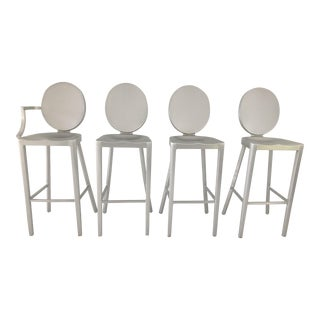 Cast Aluminum Emeco Kong Bar Stools - Set of 4