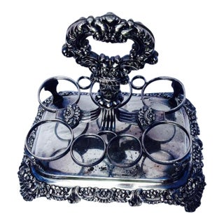 Silver Plate Condiment Holder For Sale