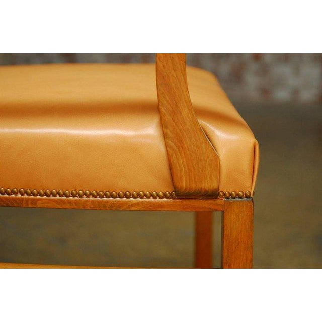 Mid-Century Mahogany and Leather Library Chairs - A Pair For Sale - Image 9 of 9