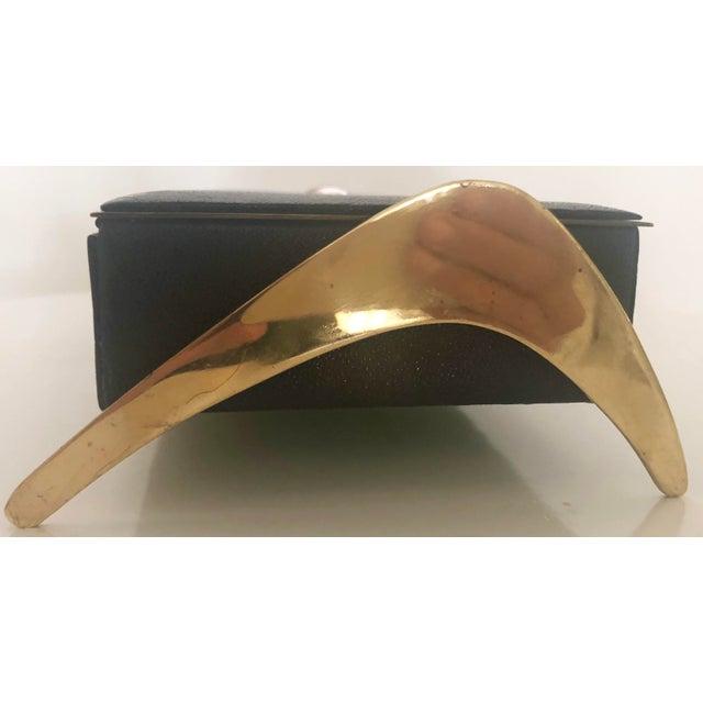 Leather/Brass Atomic Jewelry Box - Image 9 of 11