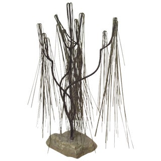 Abstract Willow Tree Welded Metal Sculpture For Sale