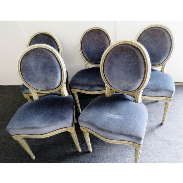 Mid 20th Century Vintage Mid Century Louis XVI Style Dining Chairs- Set of 6 For Sale - Image 5 of 9