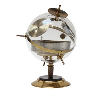 "1960s West German Huger ""Sputnik"" Barometer Weather Station For Sale"