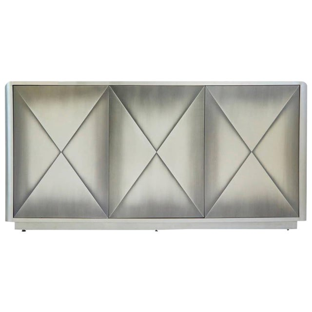 Design Institute of America Painted Steel Buffet For Sale