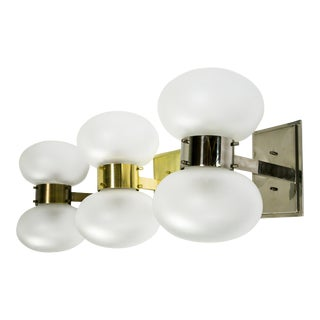 Banded Globe Sconce in Various Finishes For Sale