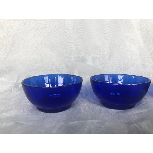 1960s 1960s Mini Cobalt Blue Glass Bowls- Set of 4 For Sale - Image 5 of 13