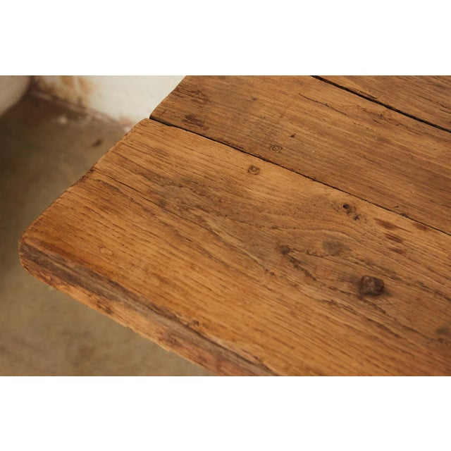 French Farm Trestle Table For Sale - Image 4 of 5