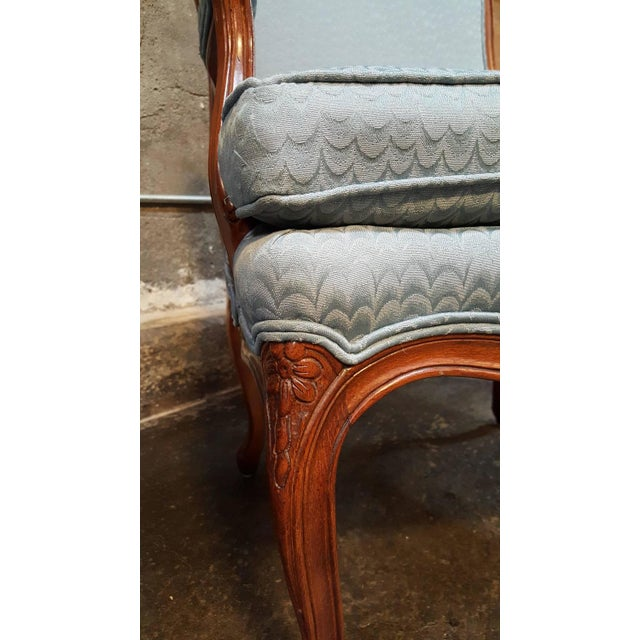 Louis XV Style Bergere Lounge Chairs - Pair - Image 5 of 6