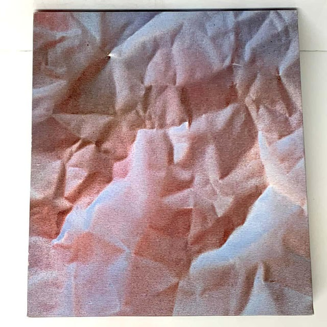 Late 20th Century Modern Trompe-l'Oeil Crumbled Paper Oil Painting, Herb Phillips, 1995 For Sale - Image 5 of 6