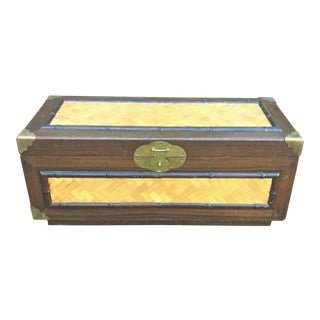 Mid-Century Campaign Trunk For Sale