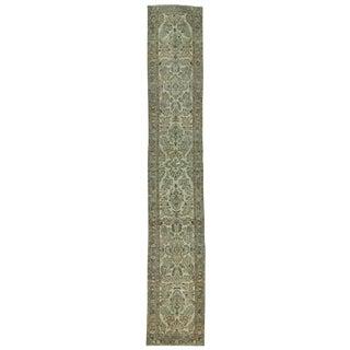 Vintage Washed Out Persian Tabriz Runner Rug - 2′7″ × 15′9″