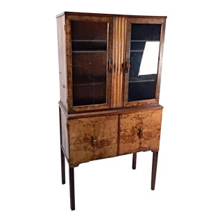 Antique Art Deco China Cabinet For Sale