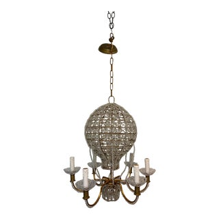 Crystal Hot Air Balloon Chandelier in the Style of Maison Bagues For Sale