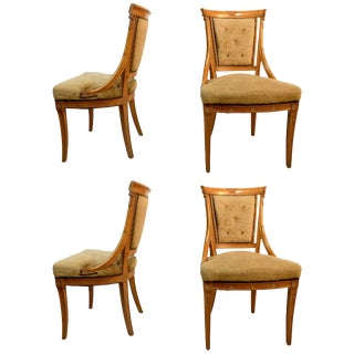 Set of Four Grosfeld House Chairs in the Hollywood Regency Style For Sale