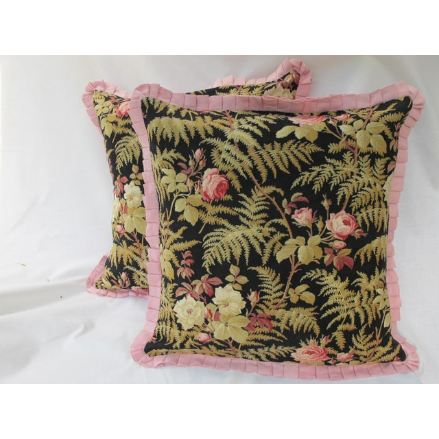 19th C. French Fabric Pillows - A Pair - Image 2 of 3