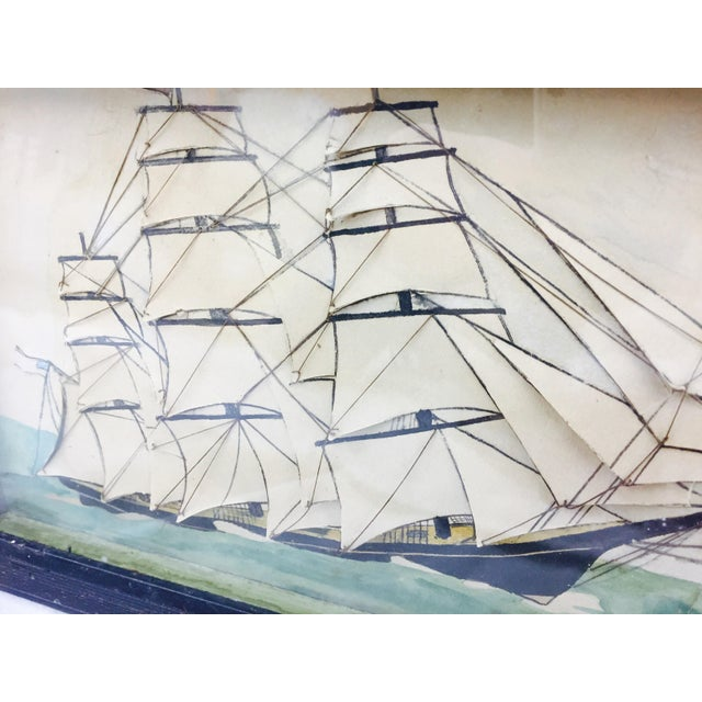 19th Century Ship Diorama in Frame - Image 2 of 11