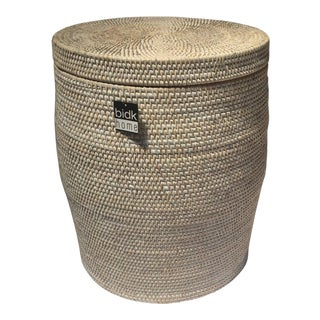 Rattan Stool Storage Basket