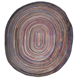 American Oval Braided Rug For Sale