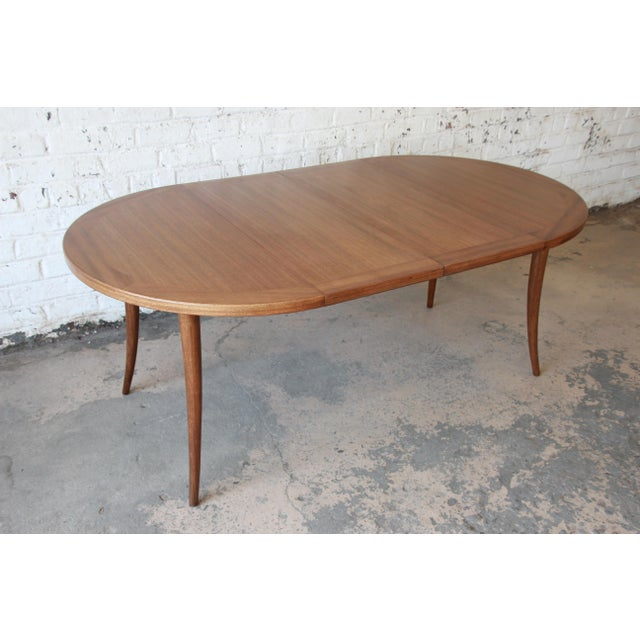 Contemporary Harvey Probber Mid-Century Modern Mahogany Saber Leg Extension Dining Table For Sale - Image 3 of 12