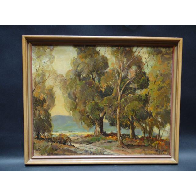 """1950s Vintage Walt Lee """"After the Rain"""" Oil on Canvas Painting For Sale - Image 9 of 9"""