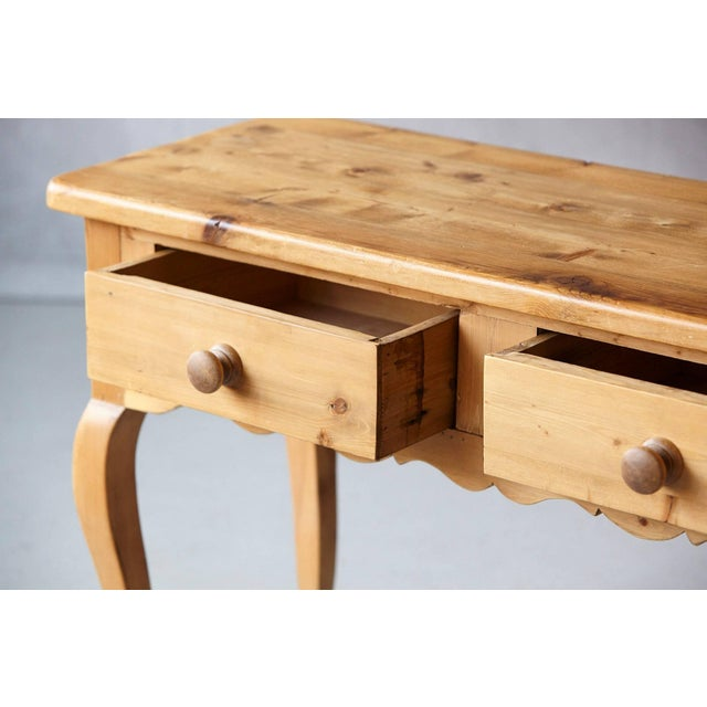 English Country Style Pine Console 2 of 2 For Sale - Image 4 of 9