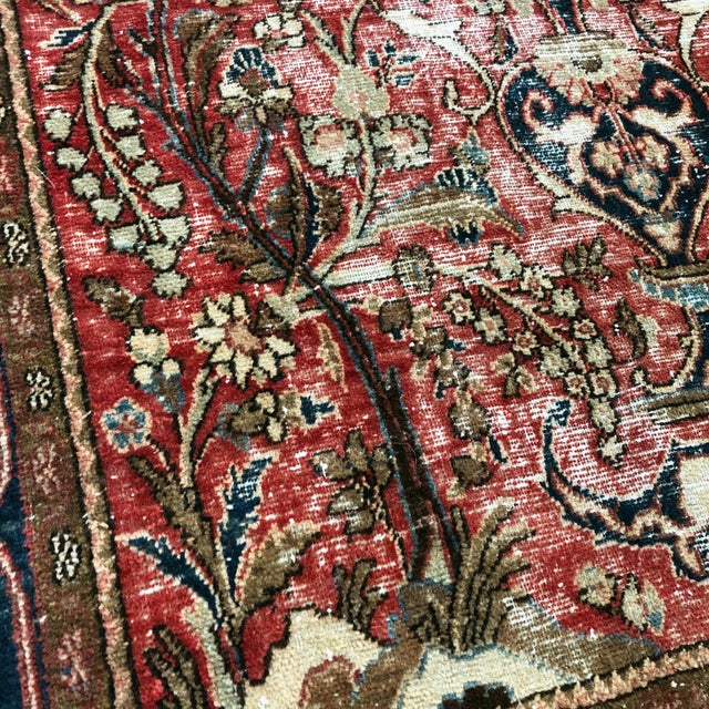 Middle Eastern 1930s Hand Knotted Wool Rug For Sale - Image 4 of 10