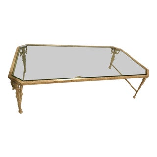 1970s Italian Cast Iron Coffee Table For Sale