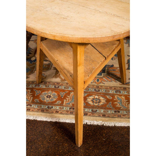Mid 19th Century Sycamore Cricket Table With Triangular Shelf, English Circa 1860 For Sale - Image 5 of 5