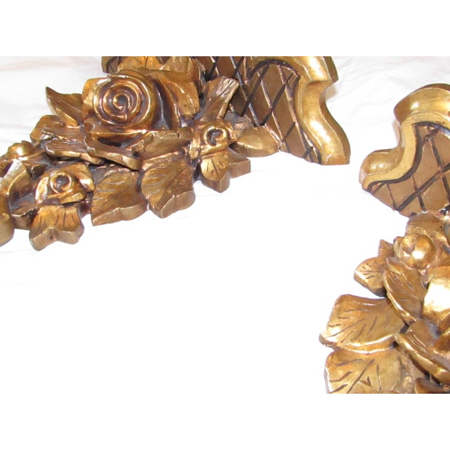 Antique Hand Carved Swedish Wall Shelves - A Pair - Image 4 of 7