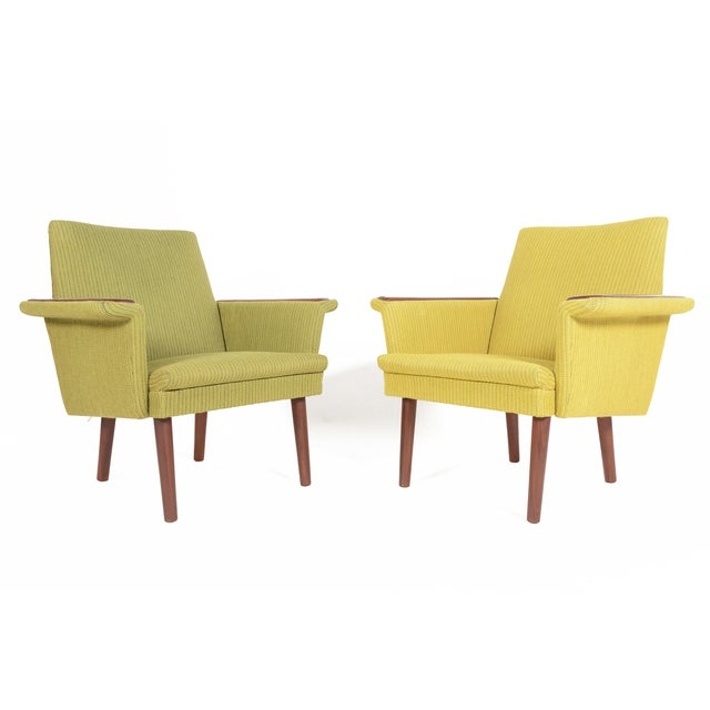Danish Modern Teak Pawed Lounge Chairs - A Pair - Image 2 of 10