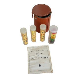 1940s English Pub Dice Game Set For Sale